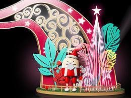 开业装饰#商业美陈#圣诞树