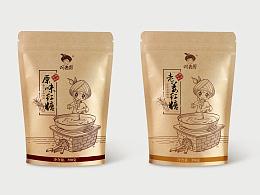 阿表哥手工红糖牛皮纸袋复古系列包装设计