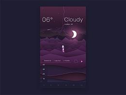 天气界面-临摹学习
