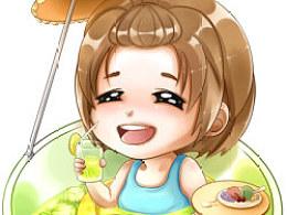 新绘de夏娃子:D...凉凉の泡在饮料里...