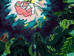 绘本主题 - 热带雨林的动物们和小女孩