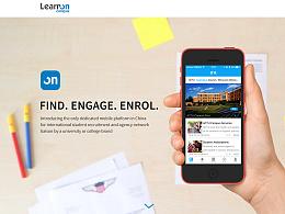 Learn on—web宣传单页