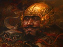 油画作品《将军画像》