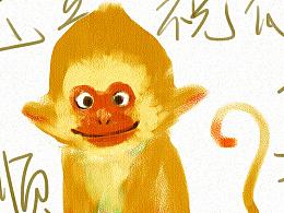 猴年祝福+腾讯新年动画系列门神海报