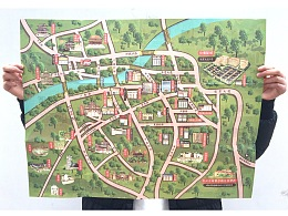 手绘横店地图