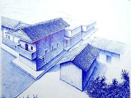 《圆珠笔画》建筑