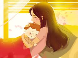 电商母婴520活动原创(手绘风)