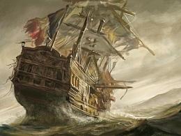 海中船(临摹)