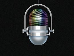 金属质感麦克风icon