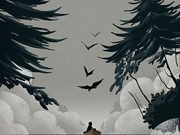 每个人都是一座孤岛系列 更新 原创插画原创插画