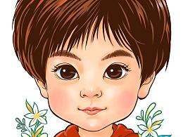 朋友的孩子漫画肖像