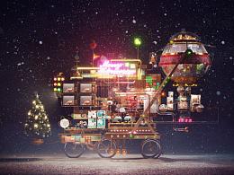 圣诞老人的自行车