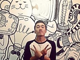 【猫叔映象 MAO PHOTO】墙画之#猫叔的脑袋里装的都是什么#