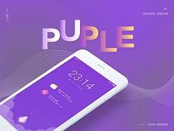 PURPLE炫紫手机主题
