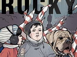 《洛奇》系列电影海报插画