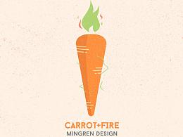 Day34- 每日设计 火焰萝卜
