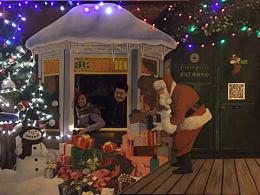 圣诞节装置创意3D画京美视觉策划经典作品展示