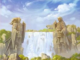 手游《忍将》部分背景图,以后会陆续更新.