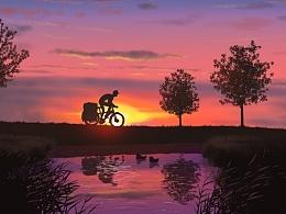 小伍单车在路上