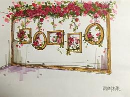 婚礼效果图手绘