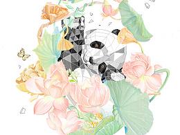 莲花熊猫猫猫