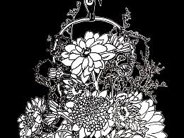 蔓草 · 雏菊花束(非上色稿)