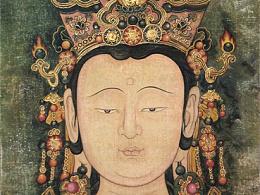 制作传统壁画——文殊菩萨