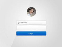 【UI设计】登录界面设计稿practise