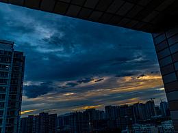 昨天傍晚的北京