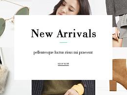 服装官网首页设计