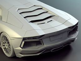 3DMAX建模Lamborghini Aventador LP700-4