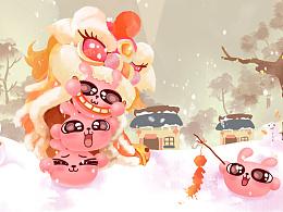 冷兔软糖新年小米主题