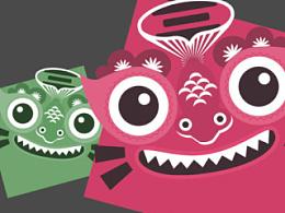 朝阳动漫社区标志设计。hiiibrand品牌形象设计大赛入围