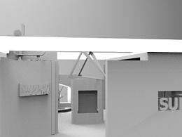 3DMAX会展模型项目 潮牌SUPPERME