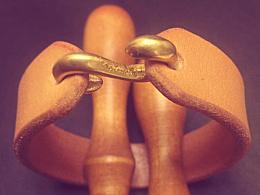 纯手工意大利植鞣革真皮手环