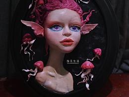 粘土浮雕画-浅浮雕作品-人物脸部练习