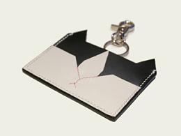 KOUTEN纯手工设计/喵桑横向单片卡包