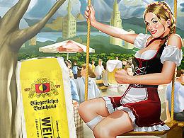 德国伯格豪斯 小麦啤 啤酒包装
