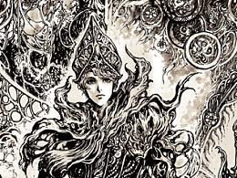 ·【静默之神】系列#08· 高清版绘图本内所选用图部分