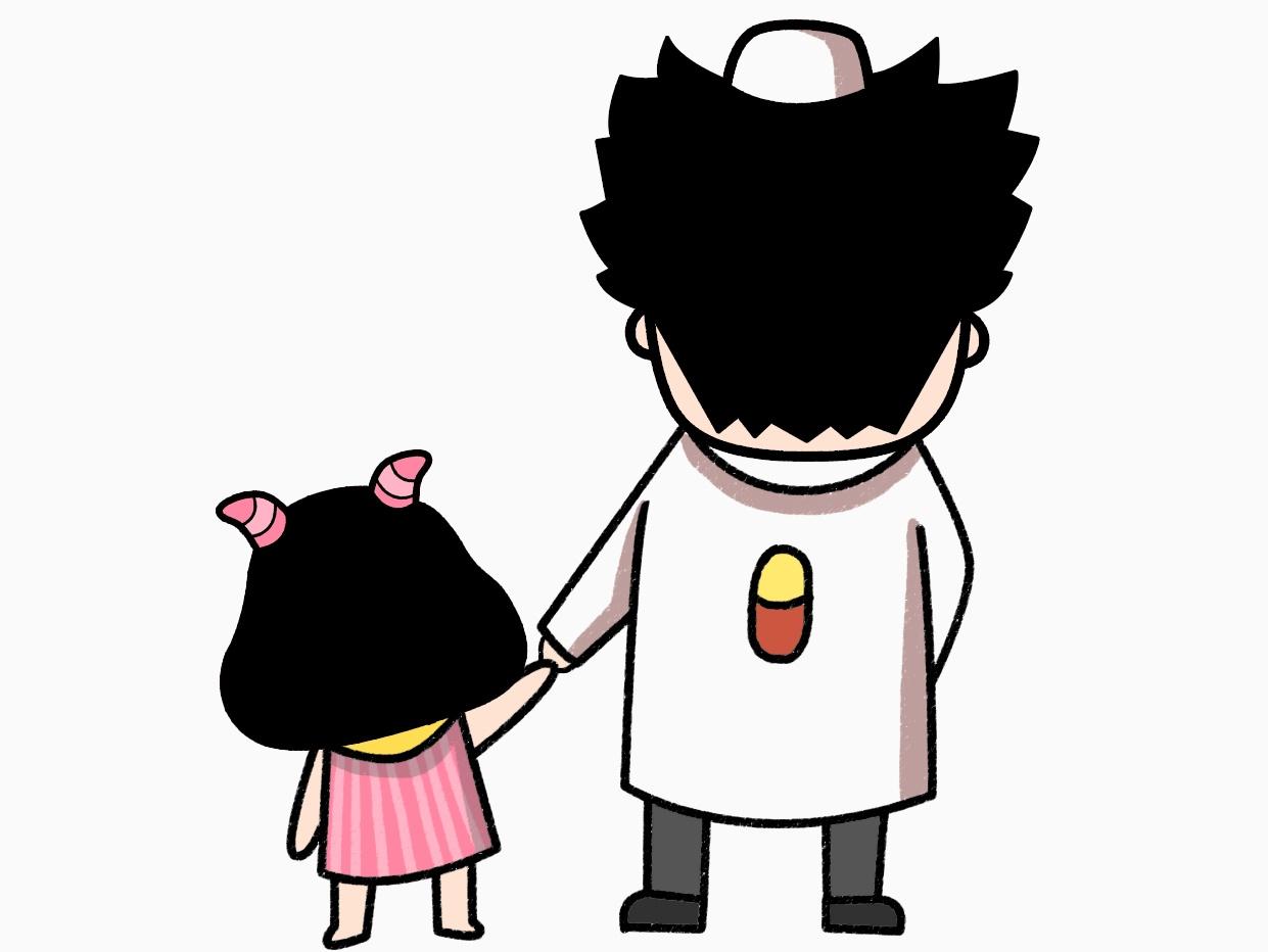 父亲节漫画图片