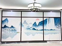 餐厅墙绘 餐饮店彩绘 店铺彩绘 墙体彩绘 墙面手绘