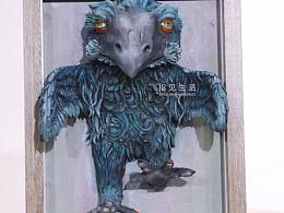 粘土浮雕画《雕?鹰?乌鸦?》