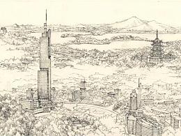 【南京意象俯视图】