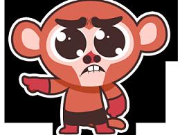 逗哔猴 你走系列表情