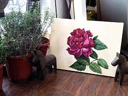 《花》油画作品