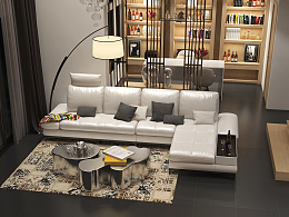 3d家具效果图展示-现代北欧沙发