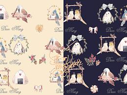 Lolita 柄图-花与肥啾
