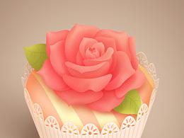 原创写实图标---杯子蛋糕 甜甜圈