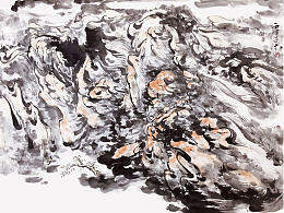 子木 水墨作品 《相伴无期》
