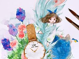 时光羽毛—水彩绘画小过程